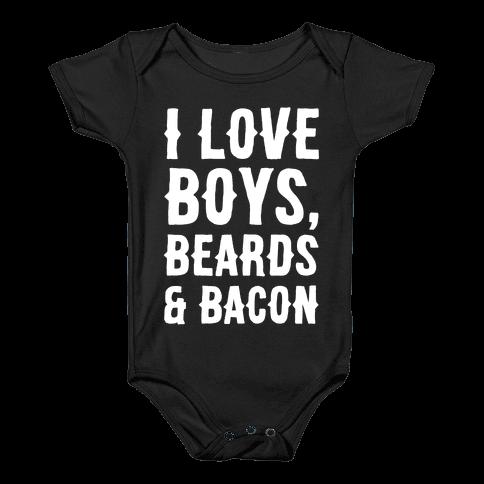 Boys, Beards and Bacon Baby Onesy