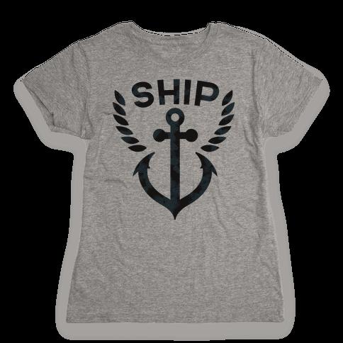 Ship Mates (Ship Half) Womens T-Shirt