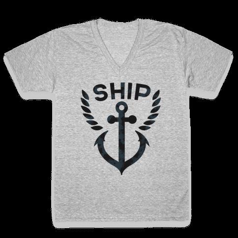Ship Mates (Ship Half) V-Neck Tee Shirt