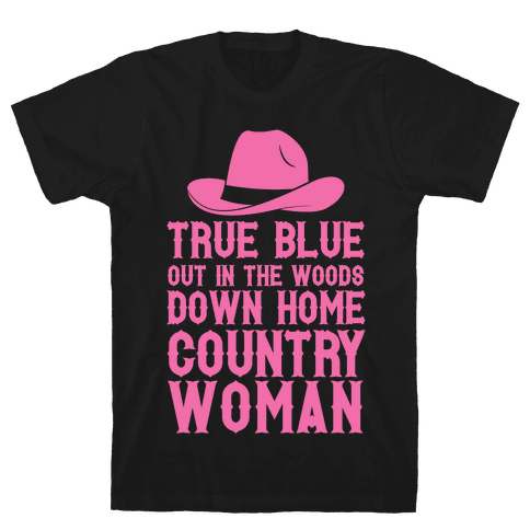True Blue Country Woman Mens T-Shirt