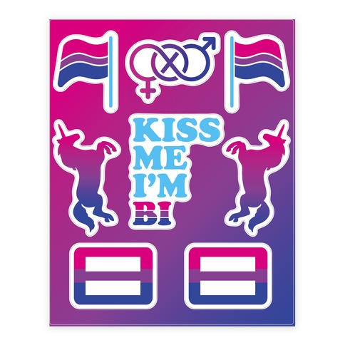Bi Pride Sticker and Decal Sheet