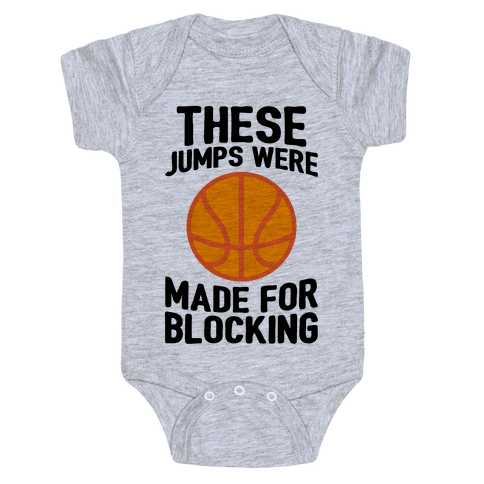 These Jumps Were Made For Blocking Baby Onesy