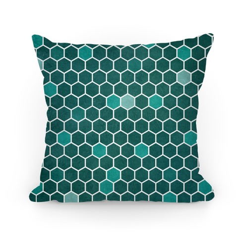 Hexagon Pattern Pillow