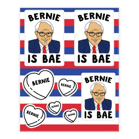 Bernie Is Bae Sticker and Decal Sheet