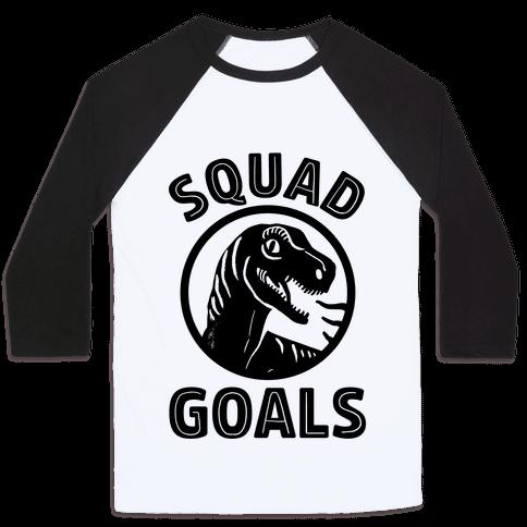 Raptor Squad Goals Baseball Tee