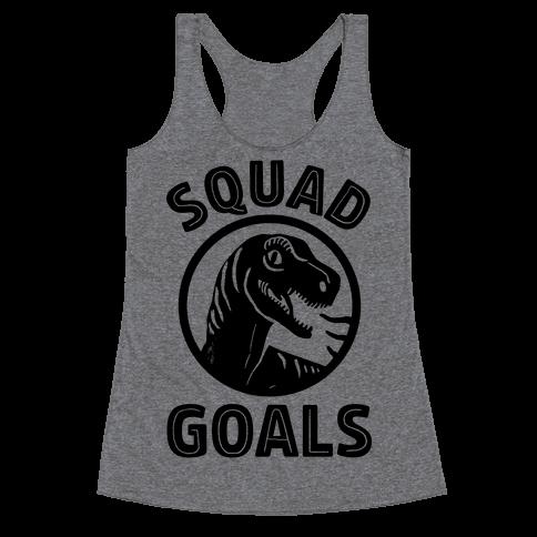 Raptor Squad Goals Racerback Tank Top