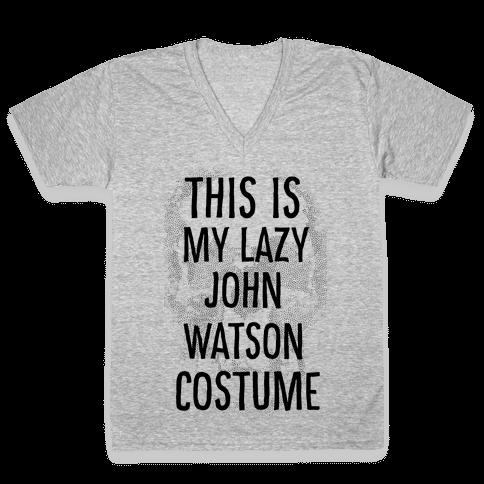 Lazy John Watson Costume V-Neck Tee Shirt