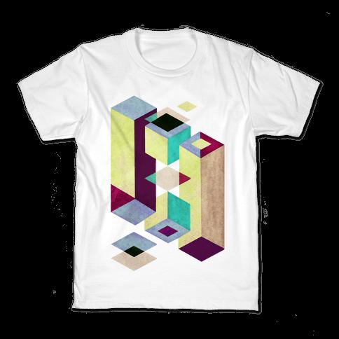Geometry Optical Illusion Kids T-Shirt