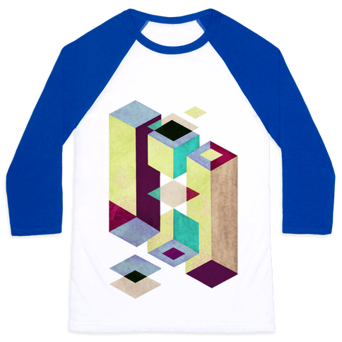 Geometry Optical Illusion Baseball Tee
