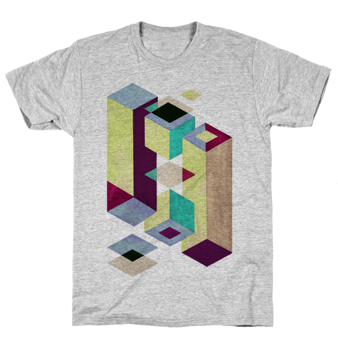 Geometry Optical Illusion Mens T-Shirt