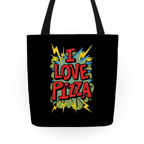 I Love Pizza Pop Art Tote