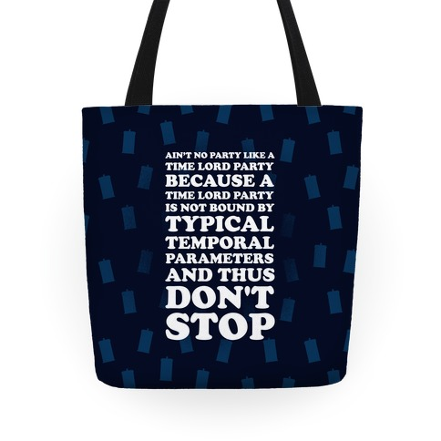 Time Lord Party Tote