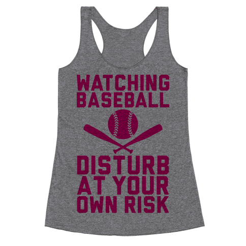 Watching Baseball Racerback Tank Top