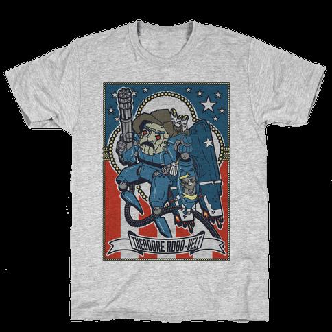 Theodore Robo-velt Mens T-Shirt