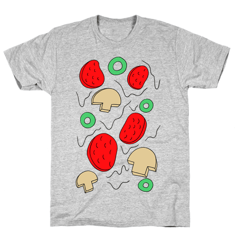 Pizza Toppings Mens T-Shirt