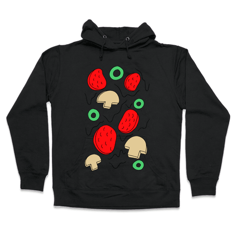 Pizza Toppings Hooded Sweatshirt