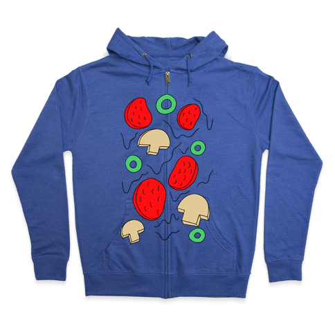 Pizza Toppings Zip Hoodie