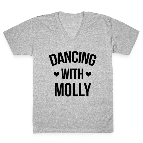 Dancing with Molly V-Neck Tee Shirt