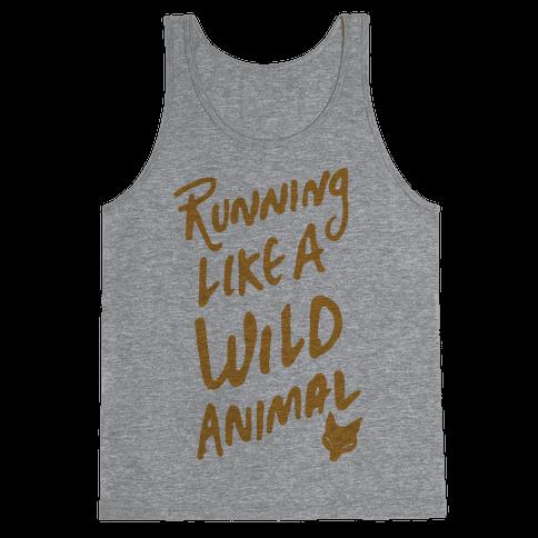 Running Like A Wild Animal Tank Top