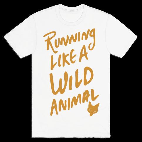 Running Like A Wild Animal Mens T-Shirt