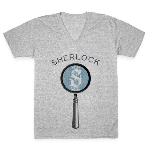 Sherlock & Watson (Part 1) V-Neck Tee Shirt
