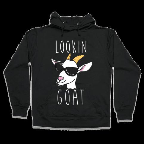 Looking Goat Hooded Sweatshirt