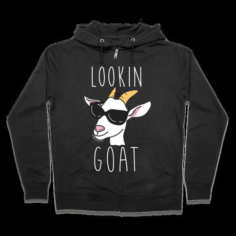 Looking Goat Zip Hoodie