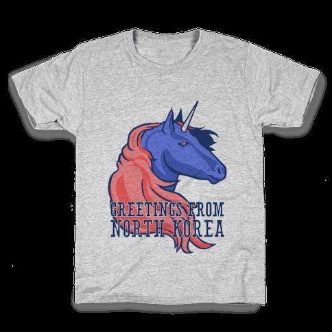 North Korean Unicorn Kids T-Shirt
