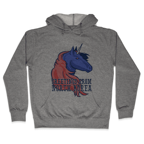 North Korean Unicorn Hooded Sweatshirt