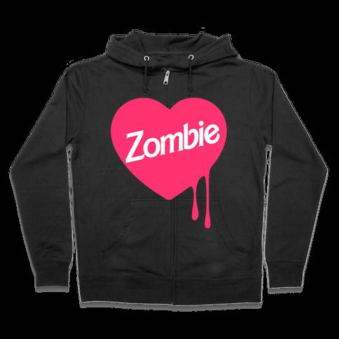 Zombie Doll Zip Hoodie