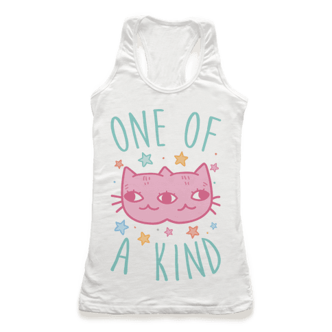 One Of A Kind Cat Racerback Tank Top