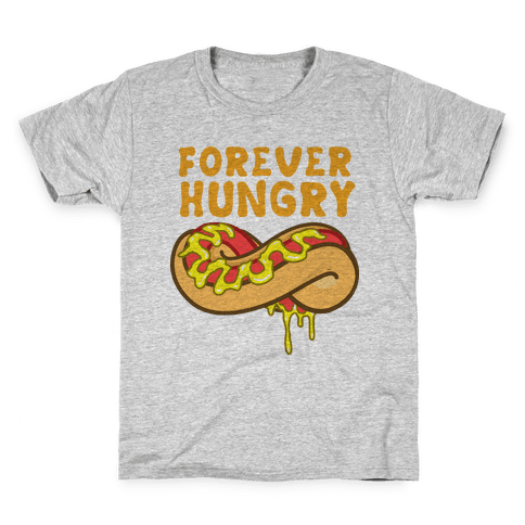 Forever Hungry (Yellow) Kids T-Shirt