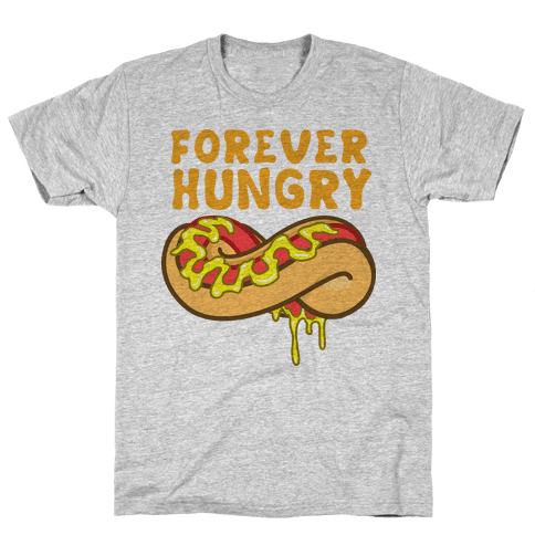 Forever Hungry (Yellow) Mens T-Shirt