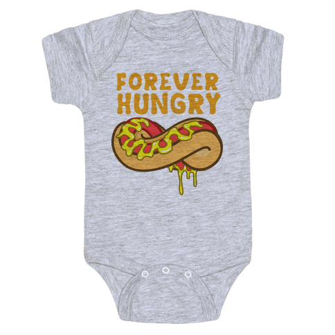Forever Hungry (Yellow) Baby Onesy