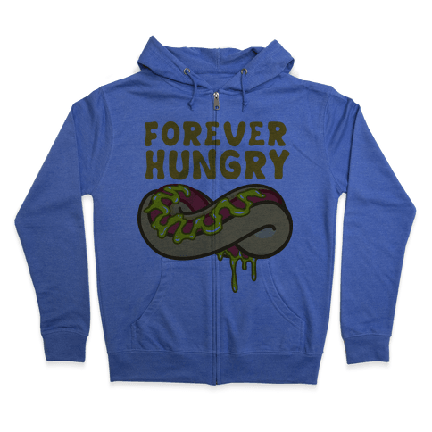 Forever Hungry (Yellow) Zip Hoodie