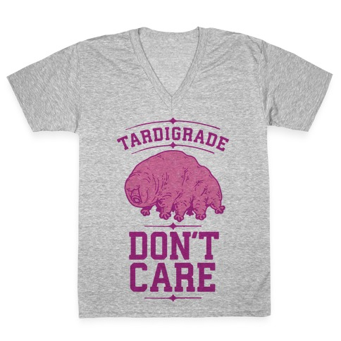 Tardigrade Don't Care V-Neck Tee Shirt