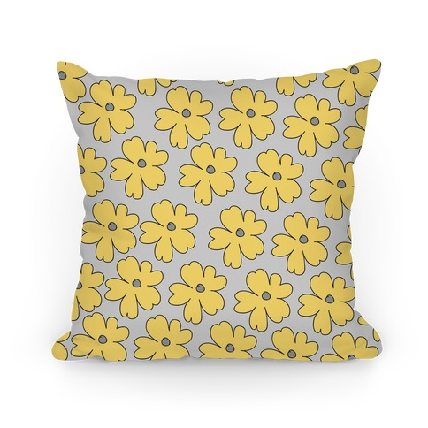 Yellow Flower Pillow Pillow