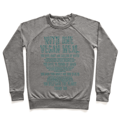 With One Vegan Meal Pullover