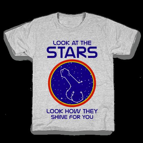 Penis Constellation Kids T-Shirt