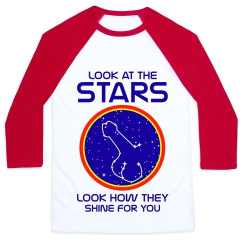 Penis Constellation Baseball Tee