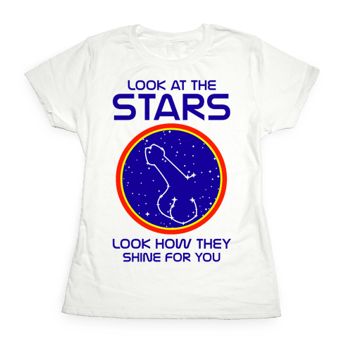 Penis Constellation Womens T-Shirt