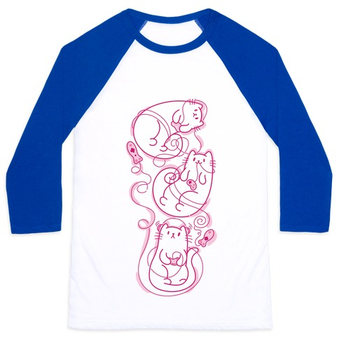 Gamer Cats Baseball Tee