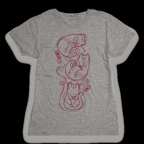 Gamer Cats Womens T-Shirt