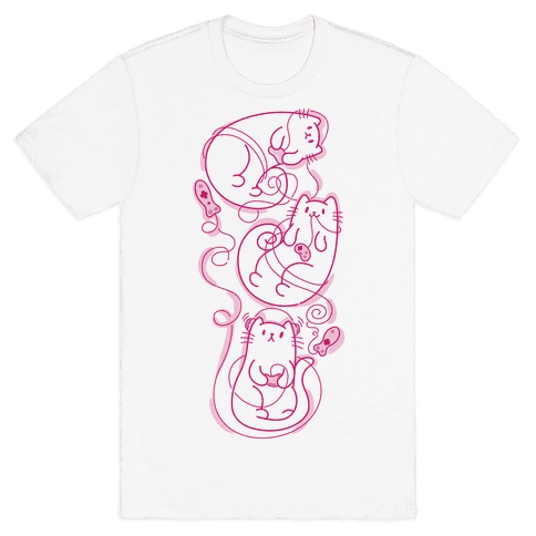 Gamer Cats Mens T-Shirt