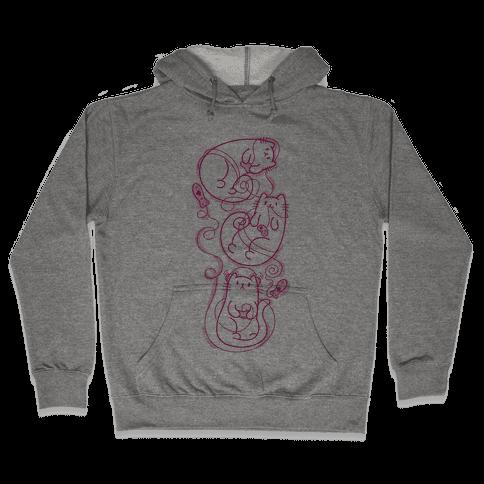 Gamer Cats Hooded Sweatshirt