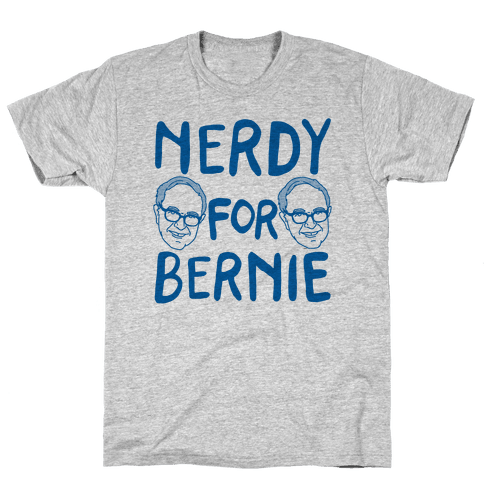Nerdy For Bernie Mens T-Shirt