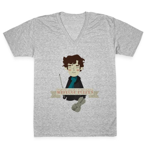 Sherlock Holmes V-Neck Tee Shirt