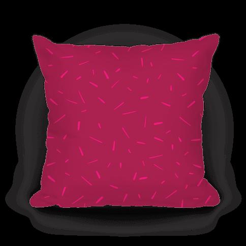 Pink Confetti Pattern Pillow