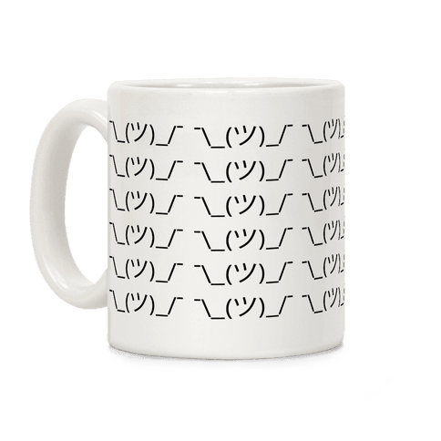 Emoticon Shrugs Coffee Mug