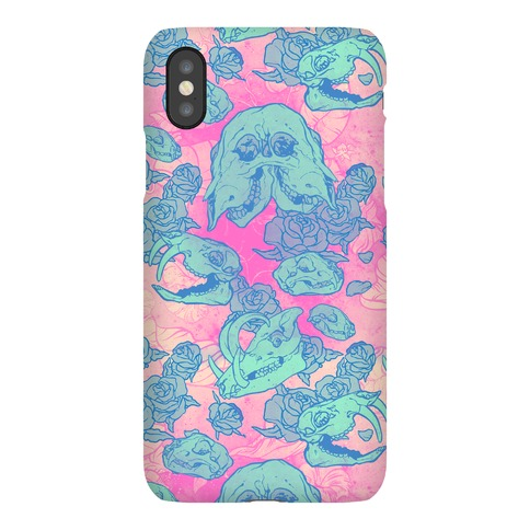Skulls and Flowers Phone Case